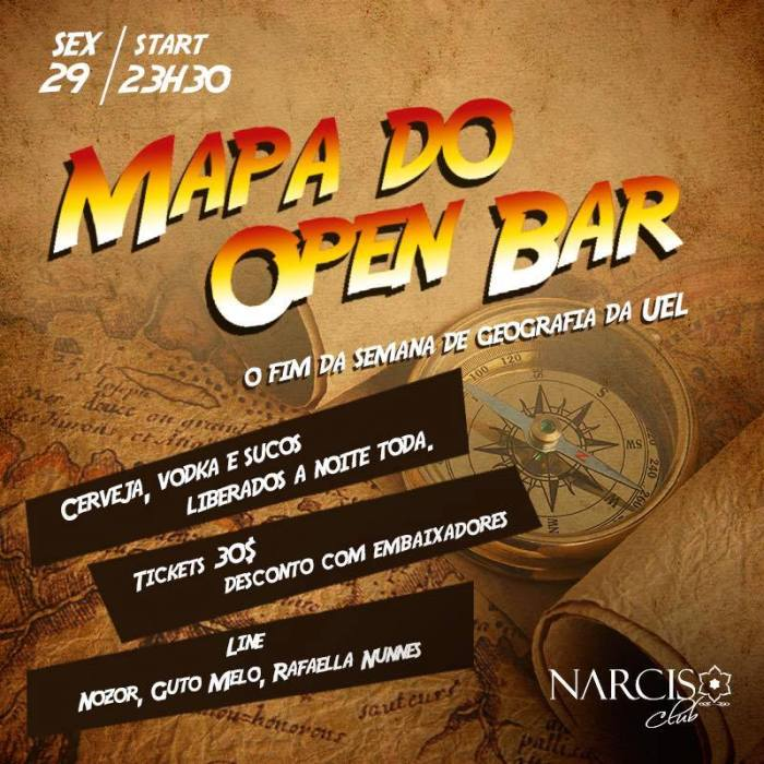 mapa do open bar